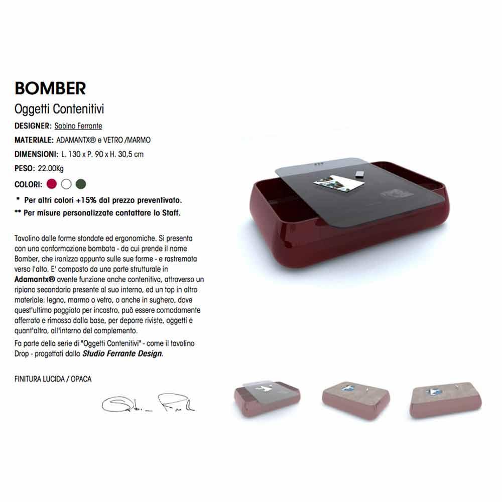 Design Couchtisch Bomber Made in Italy