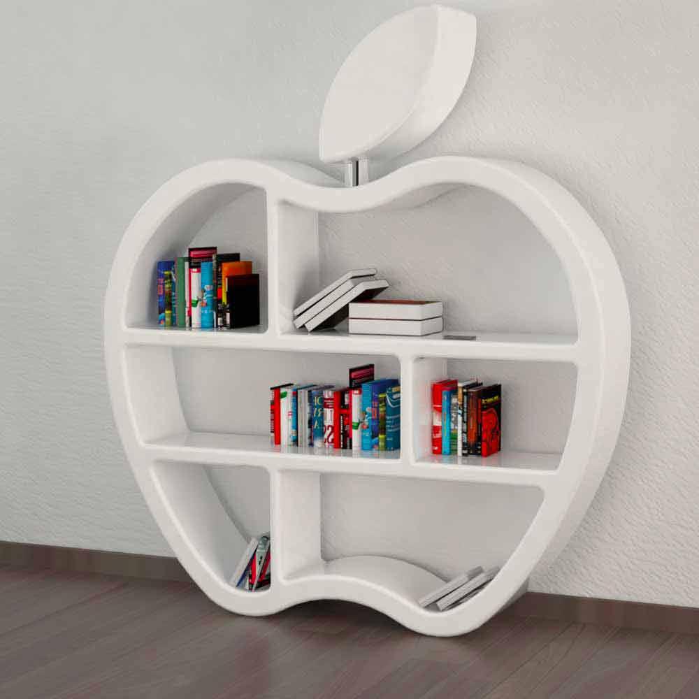 Bücherregal modern rot, weiß oder grau Gluttony ~ Bücherregal Rot
