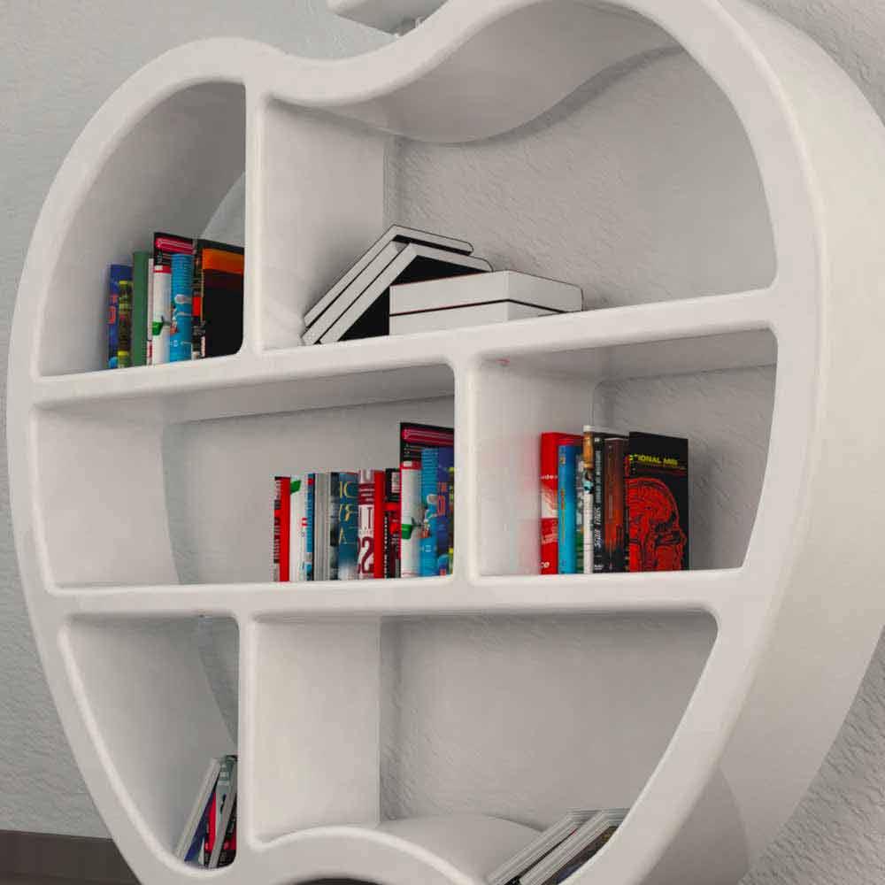 b cherregal modern rot wei oder grau gluttony. Black Bedroom Furniture Sets. Home Design Ideas