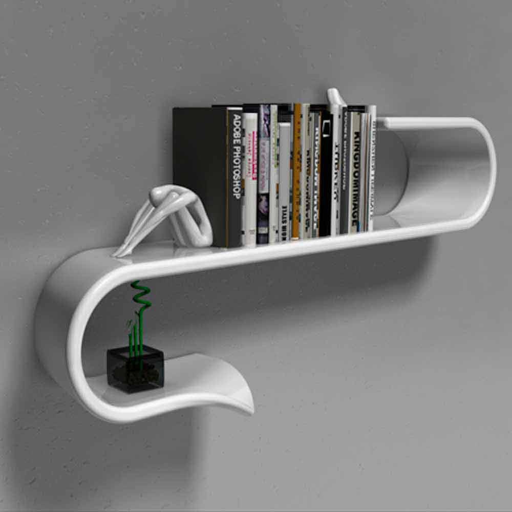 Exquisit Wandregal Modern Ideen Von Shelf Design Moderne Waveshelf Made In Italy