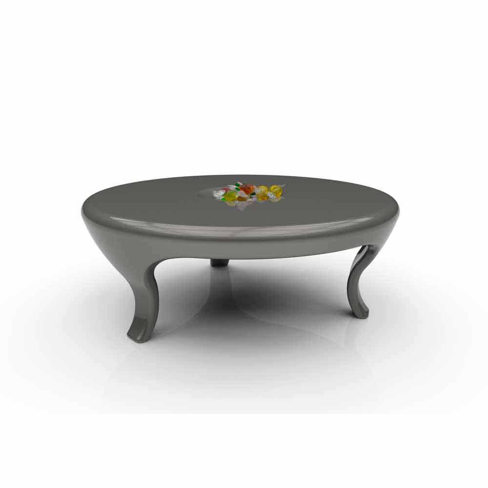 Couchtisch in modernem design round made in italy for Designer couchtisch italien