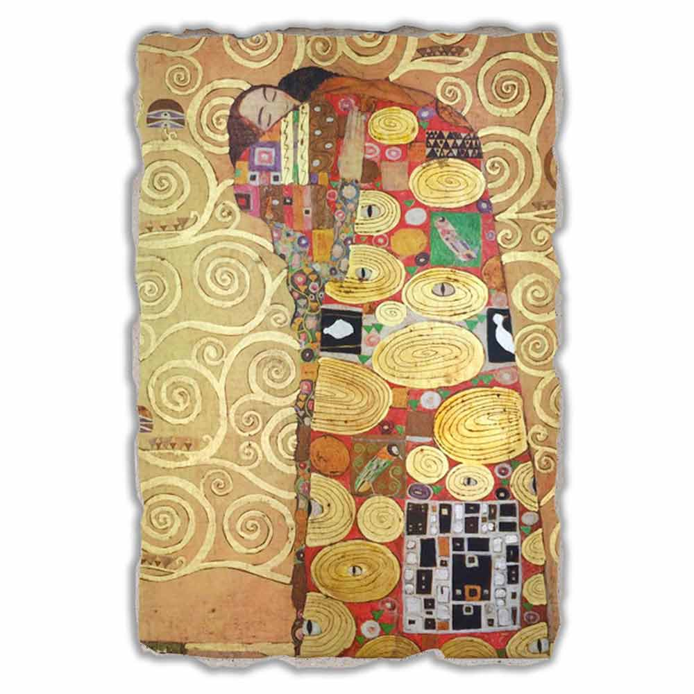 gro es fresko handgemacht gustav klimt die umarmung. Black Bedroom Furniture Sets. Home Design Ideas