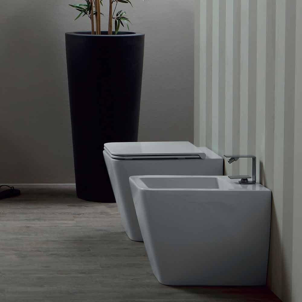 bidet aus wei er keramik modernes design sun 55x35cm made in italy. Black Bedroom Furniture Sets. Home Design Ideas