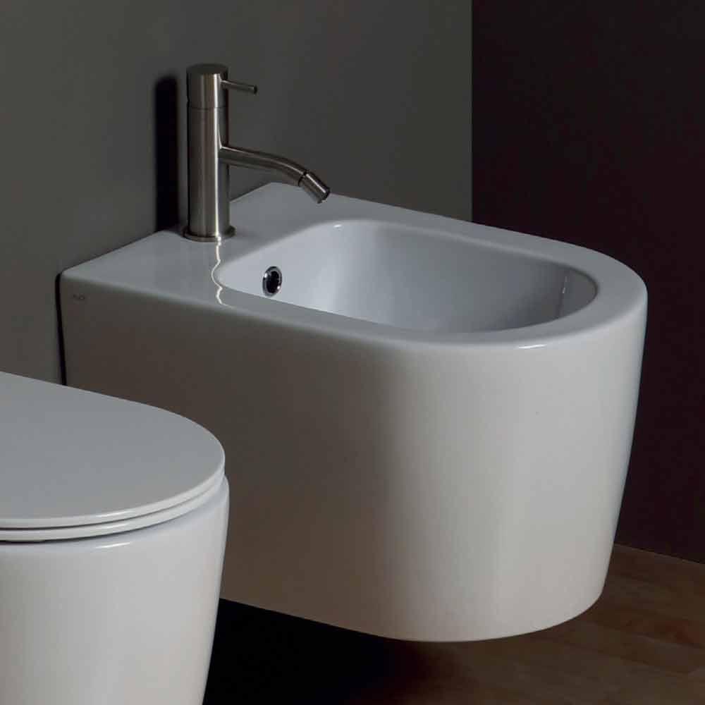 modernes h ngendes bidet aus keramik shine square 50x35 made in italy. Black Bedroom Furniture Sets. Home Design Ideas