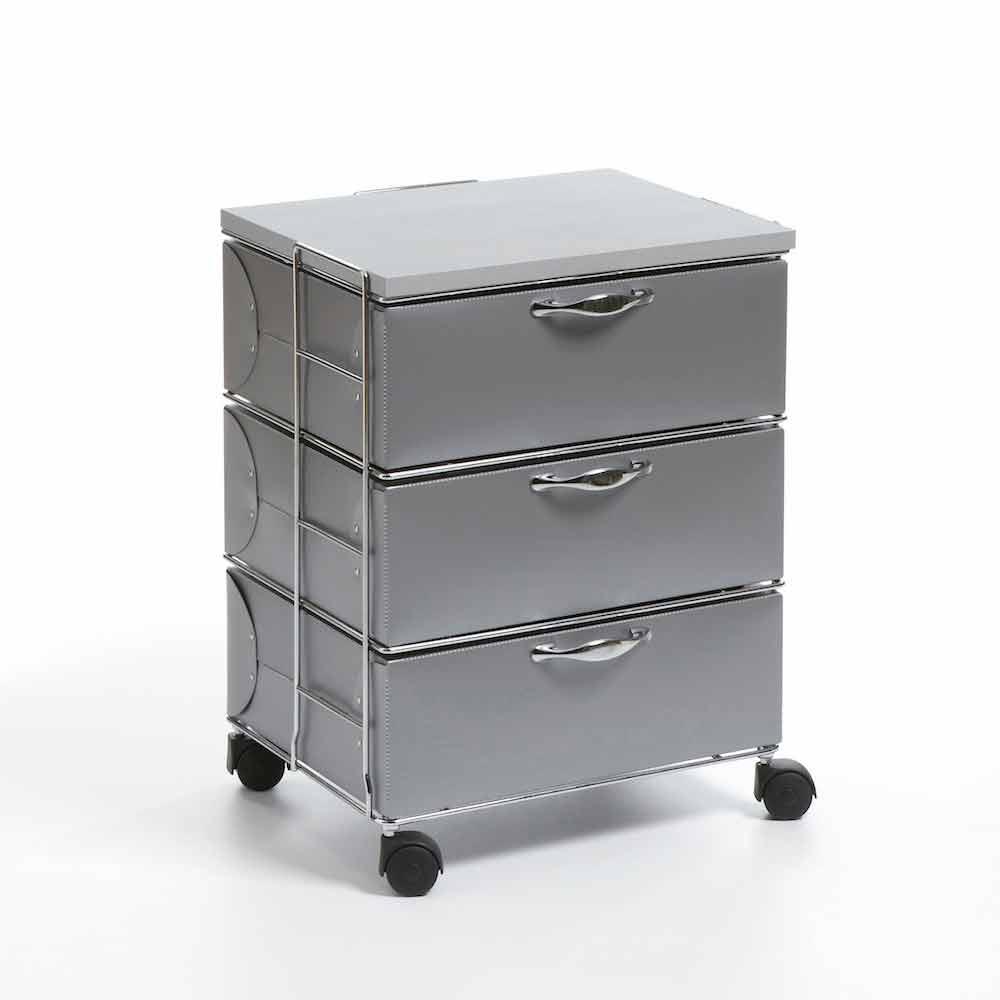 moderne kommode mit 3 schubladen in wei em oder grauem. Black Bedroom Furniture Sets. Home Design Ideas