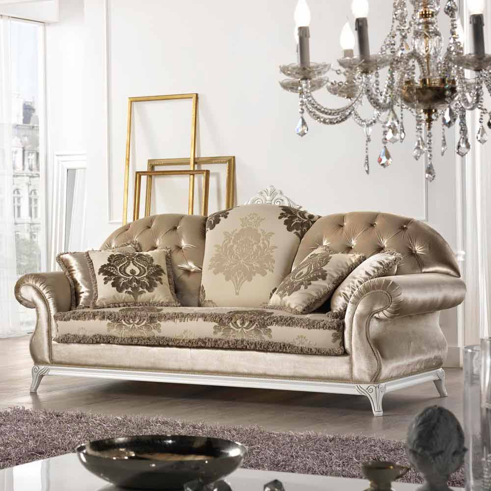 Couch aus stoff 2 sitzer im barock stil liberty made in italy for Arredamento stile barocco moderno