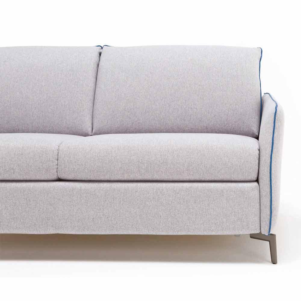 Zweisitzer-Sofa modernes Design L.145cm Kunstleder/Stoff Erica