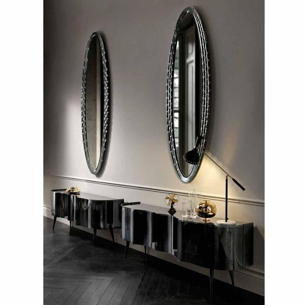 Flam vebl n pasha elliptischer wandspiegel design made in for Wandspiegel design