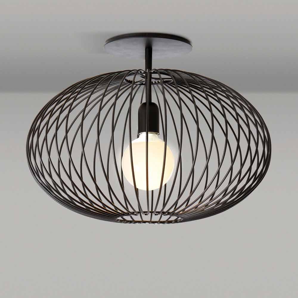 Moderne deckenlampe aus lackiertem stahl 48xh 35 cm heila for Moderne deckenlampe
