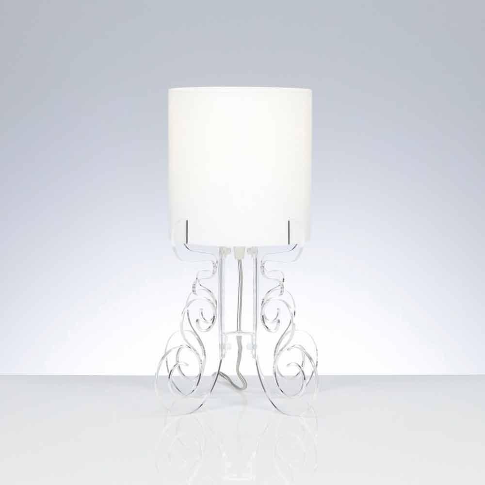 Tischlampe mit zylindrischem lampenschirm durchmesser 18 for Lampenschirm tischlampe
