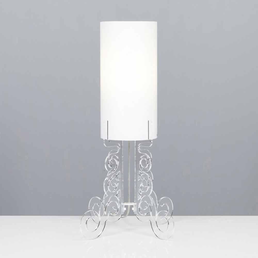 Tischlampe mit zylindrischem lampenschirm durchmesser 26 for Lampenschirm tischlampe