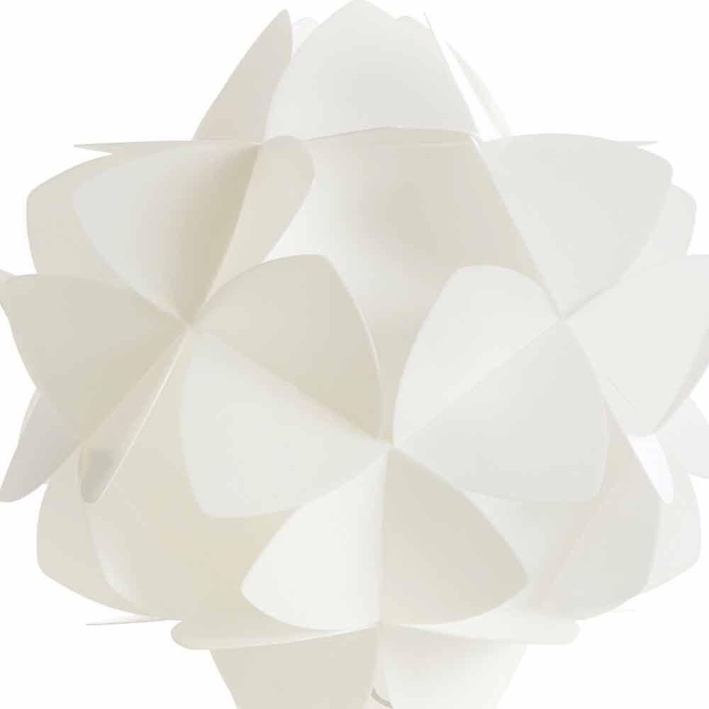 Tischlampe im modernen design perlwei kaly durchmesser 46 cm for Tischlampe design