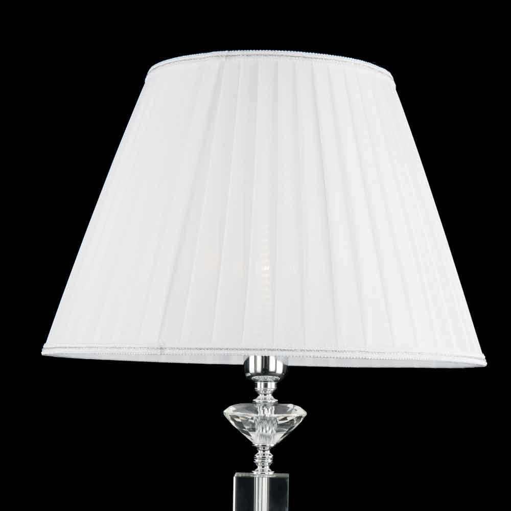 Design tischlampe in ivy glas und kristall made in italy for Tischlampe design