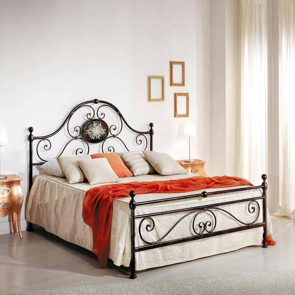 Schmiedeeisen Doppelbett Modernes Design 160x190cm