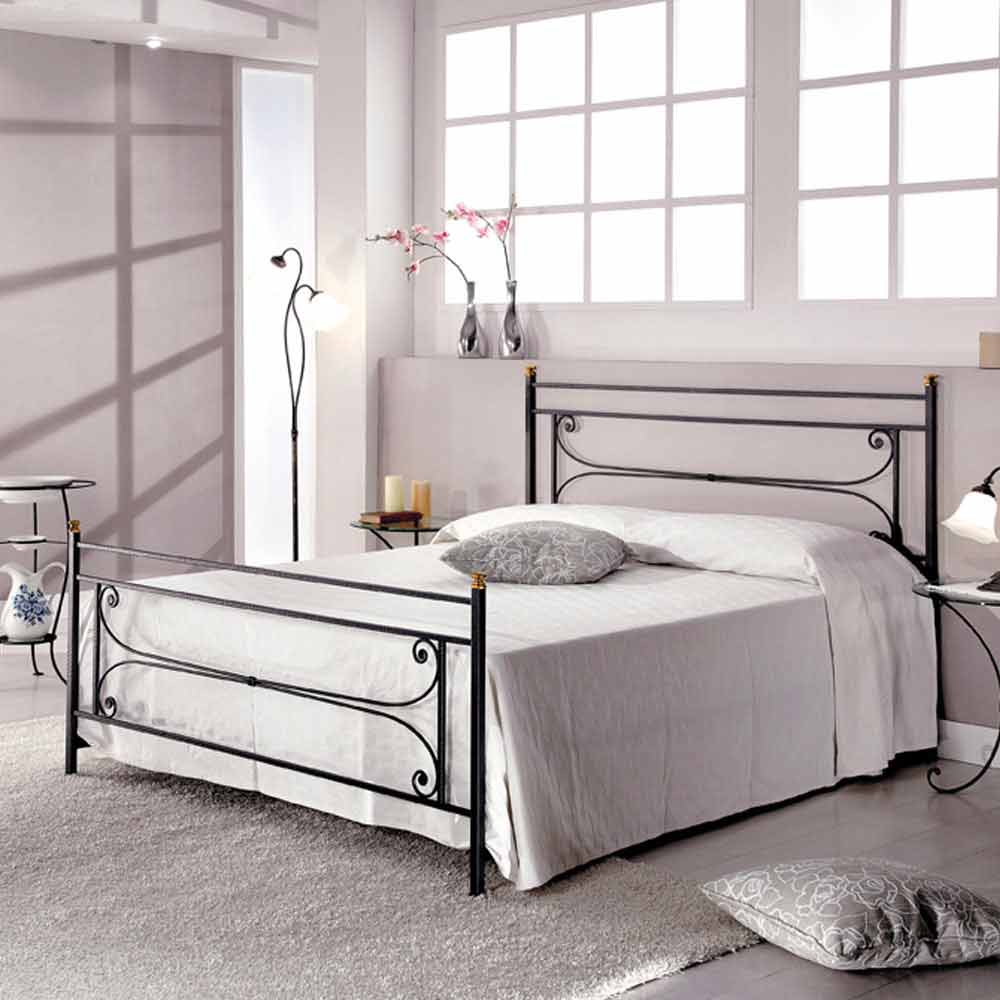 doppelbett 160x190 cm schmiedeeisen handgefertigt evelyn. Black Bedroom Furniture Sets. Home Design Ideas