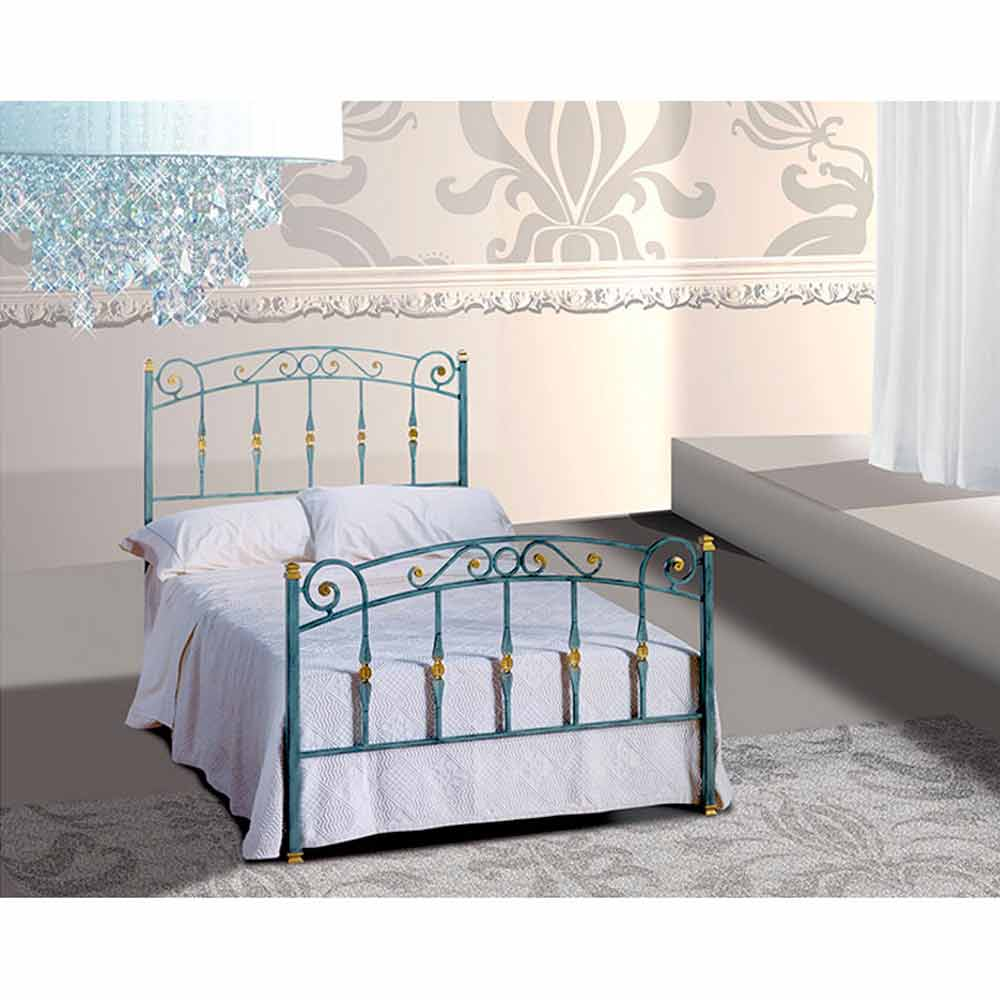 jugend queen size bett aus schmiedeeisen diamante. Black Bedroom Furniture Sets. Home Design Ideas