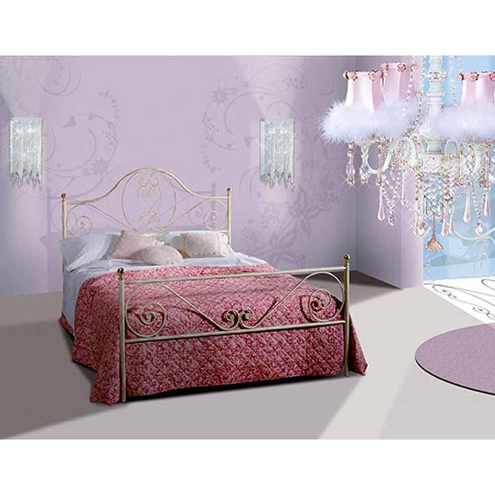 Gea Jugend Queen Size Bett aus Schmiedeeisen