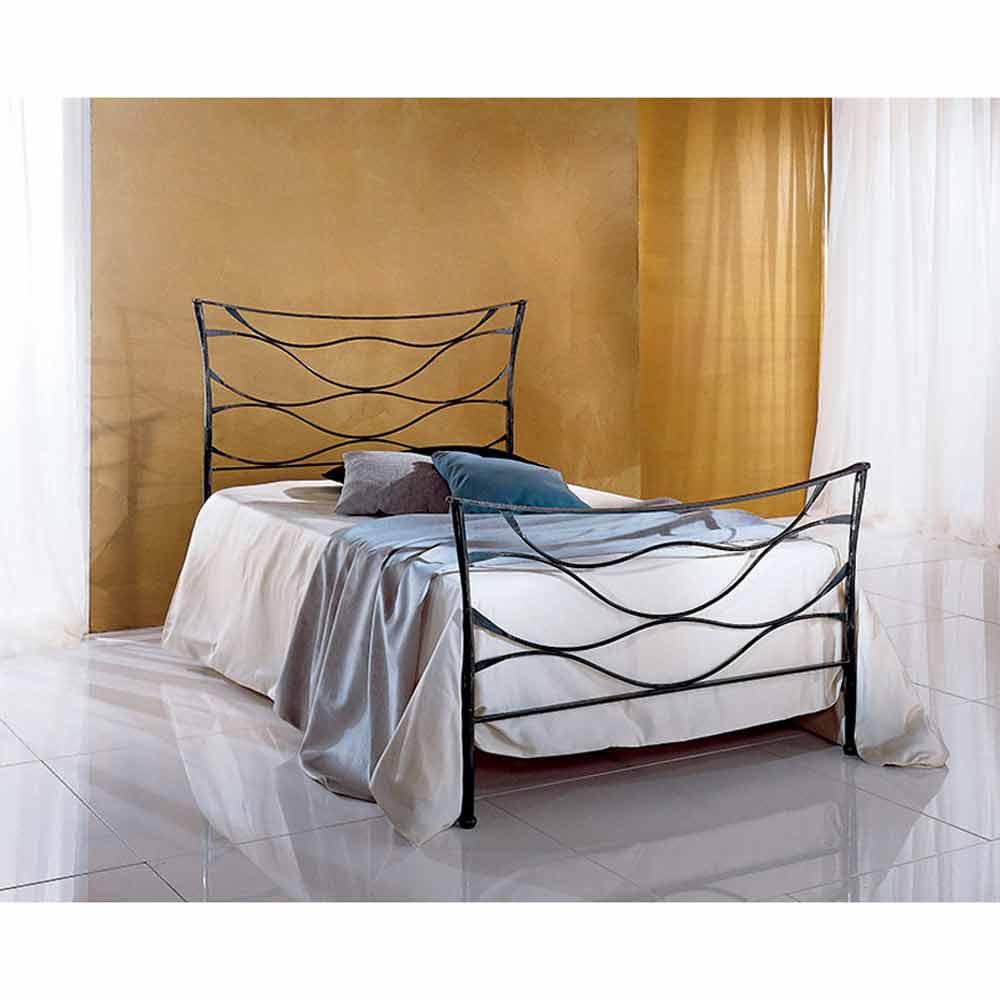 Battuto Idra Jugend Queen Size Bett aus Schmiedeeisen
