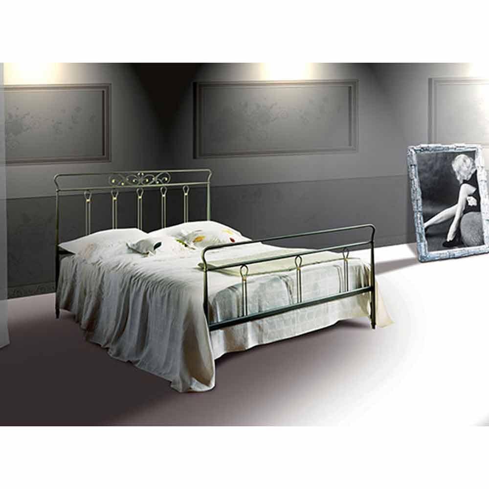 Pan Jugend Queen Size Bett aus Schmiedeeisen