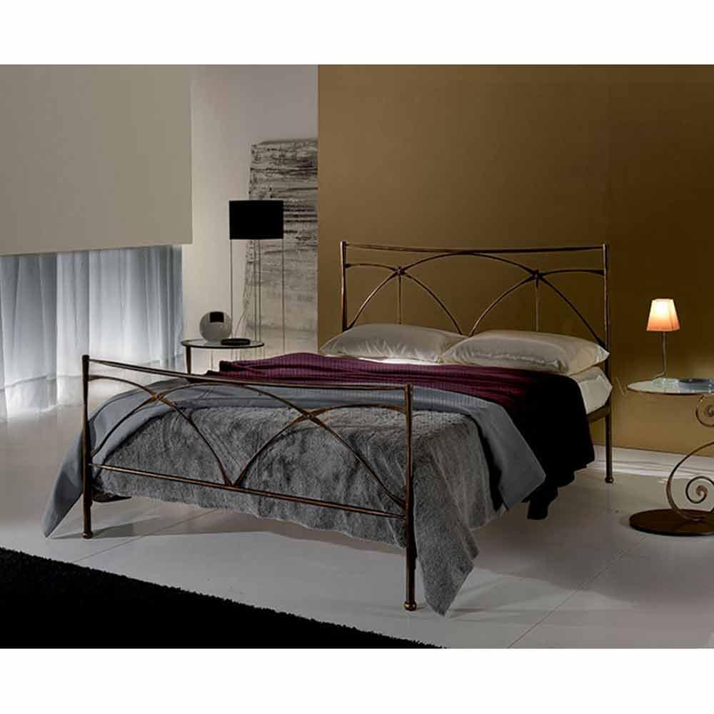 Persefone Jugend Queen Size Bett aus Schmiedeeisen