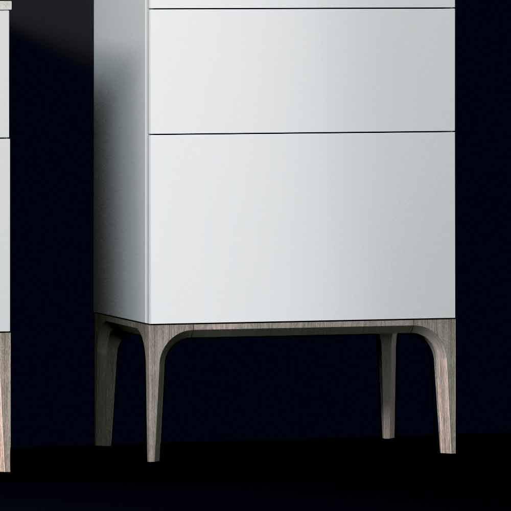 Moderner Badezimmerschrank Mit 3 Schubladen In Amber