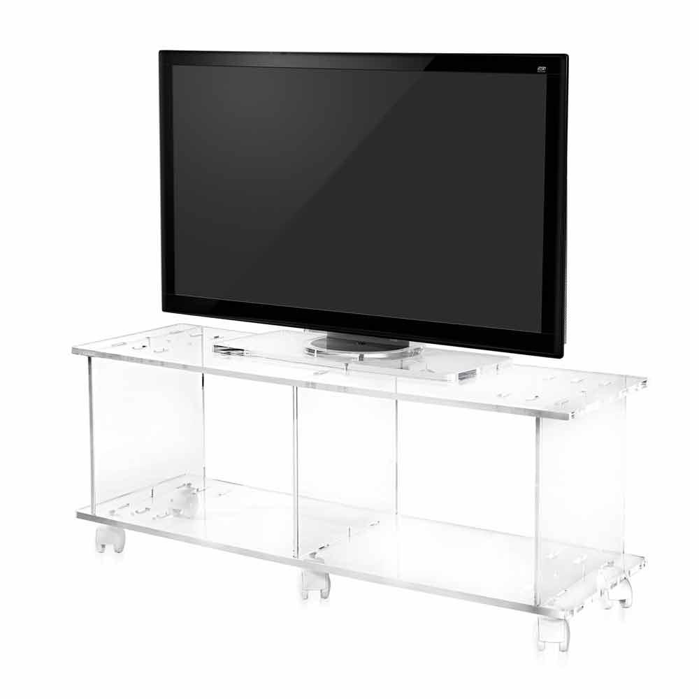 TV-Schrank im modernen Design aus transparentem Plexiglas Mago