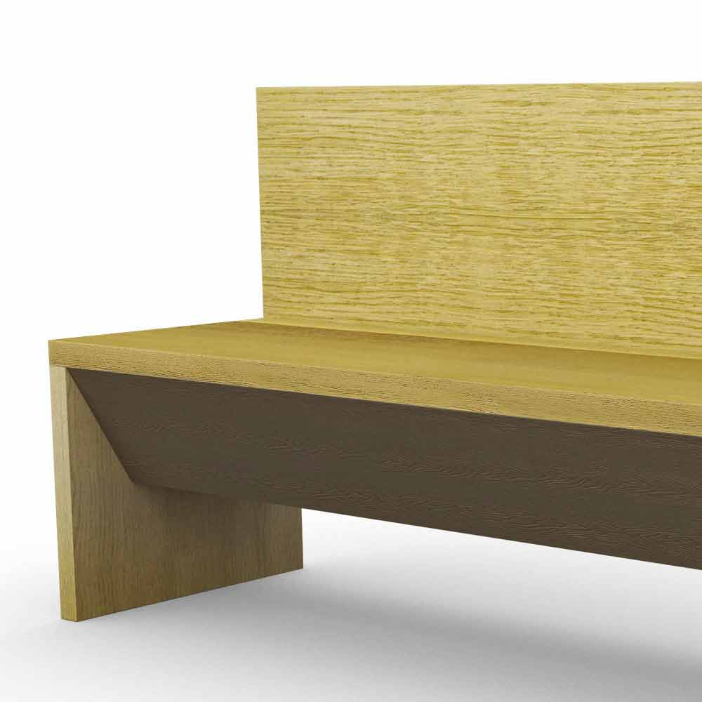 moderne bank mit beh lter aus eichenholz hergestellt in italien cassy. Black Bedroom Furniture Sets. Home Design Ideas