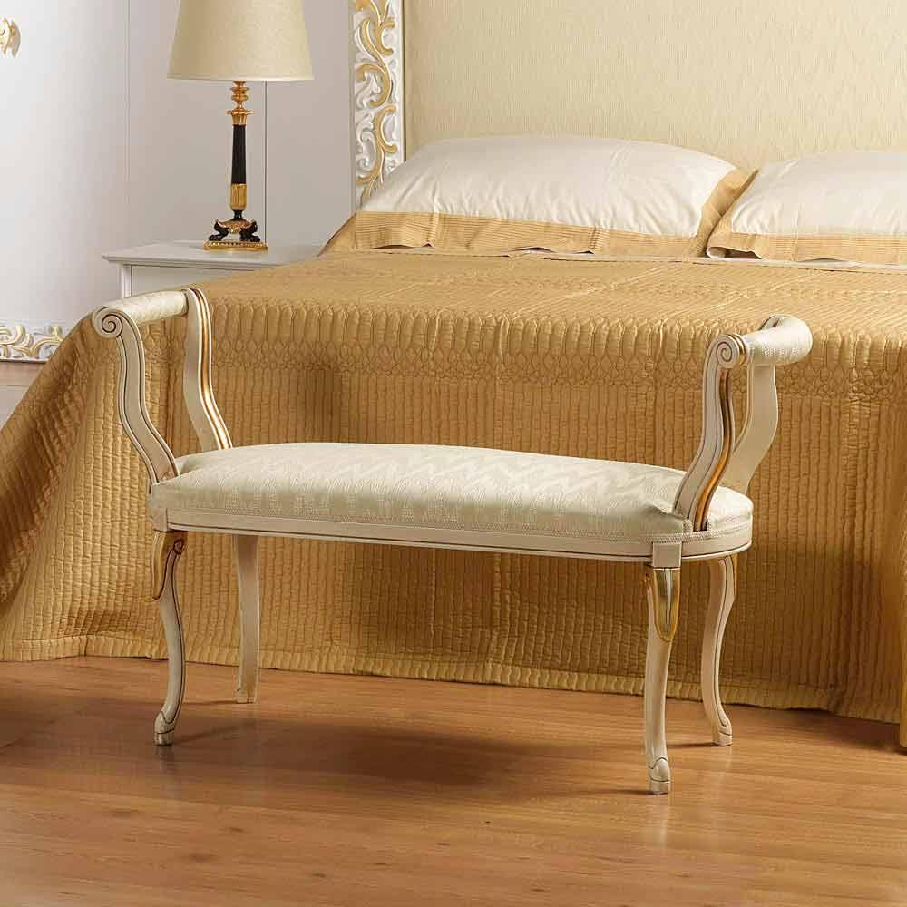klassische Schlafzimmer Sitzbank elfenbeinfarben