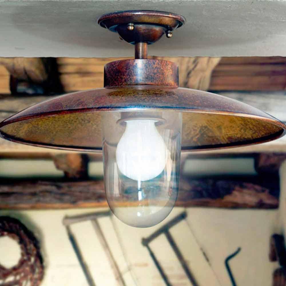 deckenlampe aus kupfer und glas nabucco von aldo bernardi. Black Bedroom Furniture Sets. Home Design Ideas