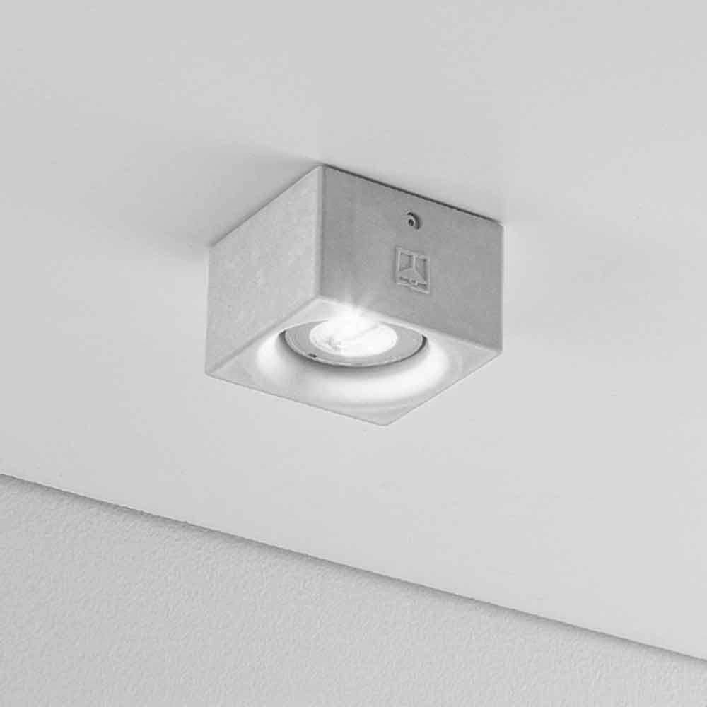 Deckenlampe viereckig beton oder gips nadir aldo bernardi for Deckenlampe viereckig
