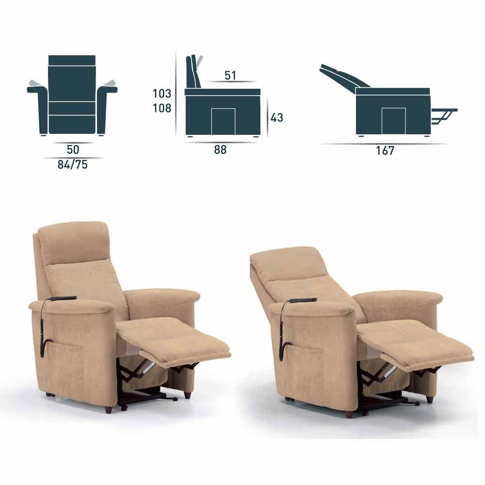 Sessel mit aufstehhilfe und 1 motor elektrisch via firenze for Schlafsofa elektrisch