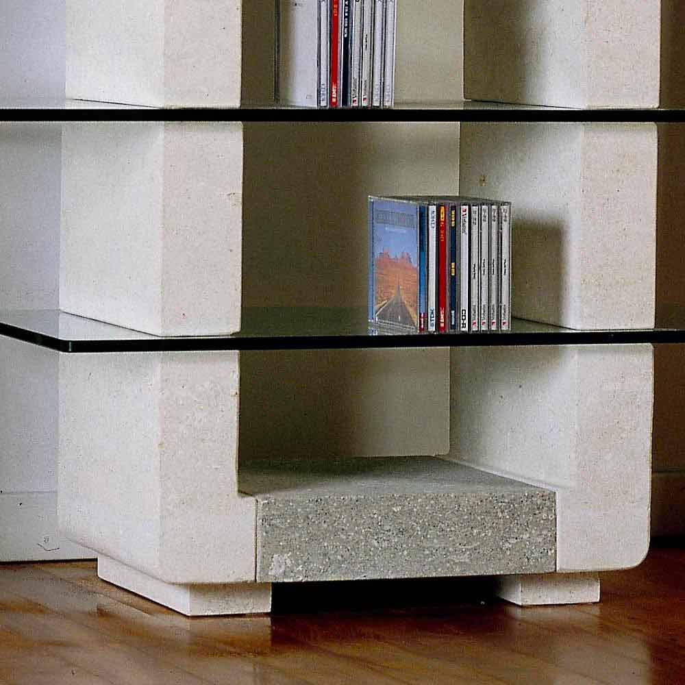 tv hifi m bel aus stein und kristall in modernem design xeni