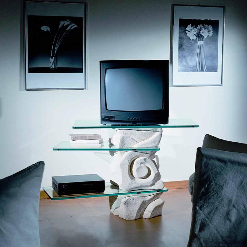 TV-Möbel aus Stein und Kristall in modernem Design Agape