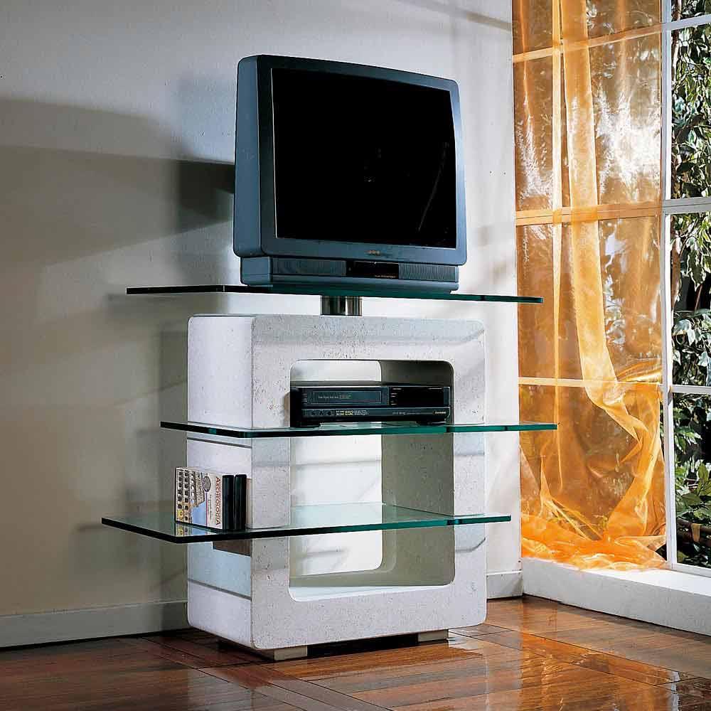 tv m bel aus stein und kristall in modernem design agnes