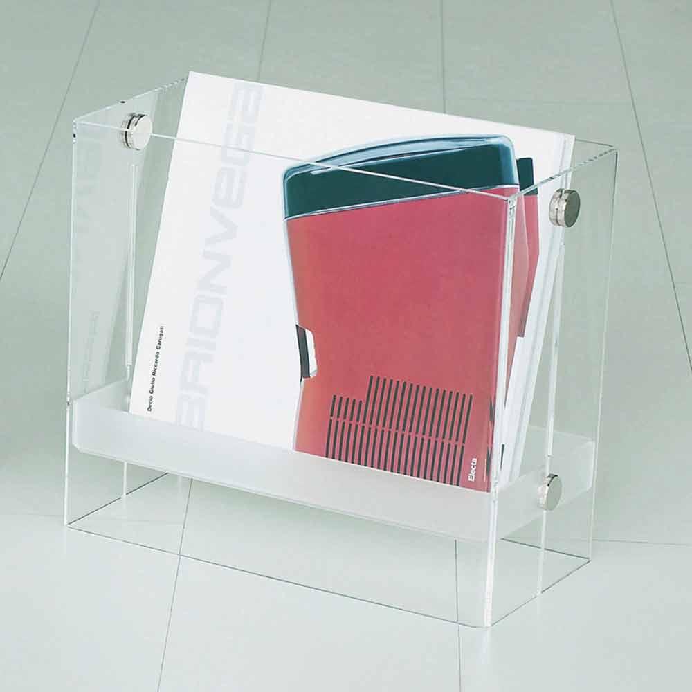 zeitschriftenst nder aus modernem design in transparentem tanko methacrylat. Black Bedroom Furniture Sets. Home Design Ideas