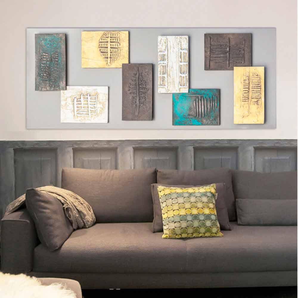 Moderne Malerei Mit Taupe Leinwand Und Acht Elemente Textur Andrew