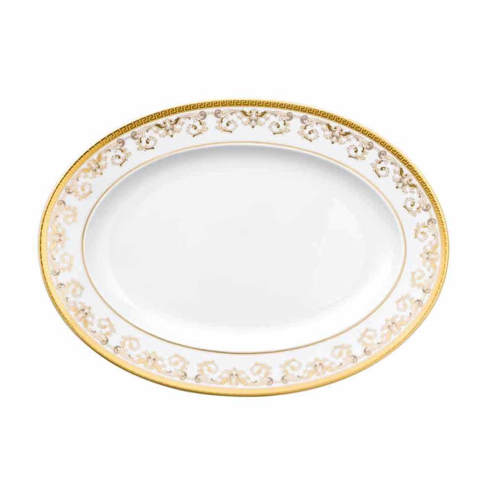 rosenthal versace medusa gala gold ovaler teller design 34cm porzellan. Black Bedroom Furniture Sets. Home Design Ideas
