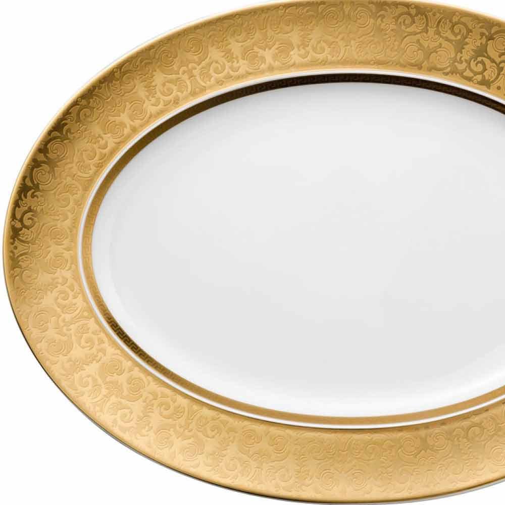 Rosenthal versace medusa gala gold ovaler teller design - Ovale wandregale ...