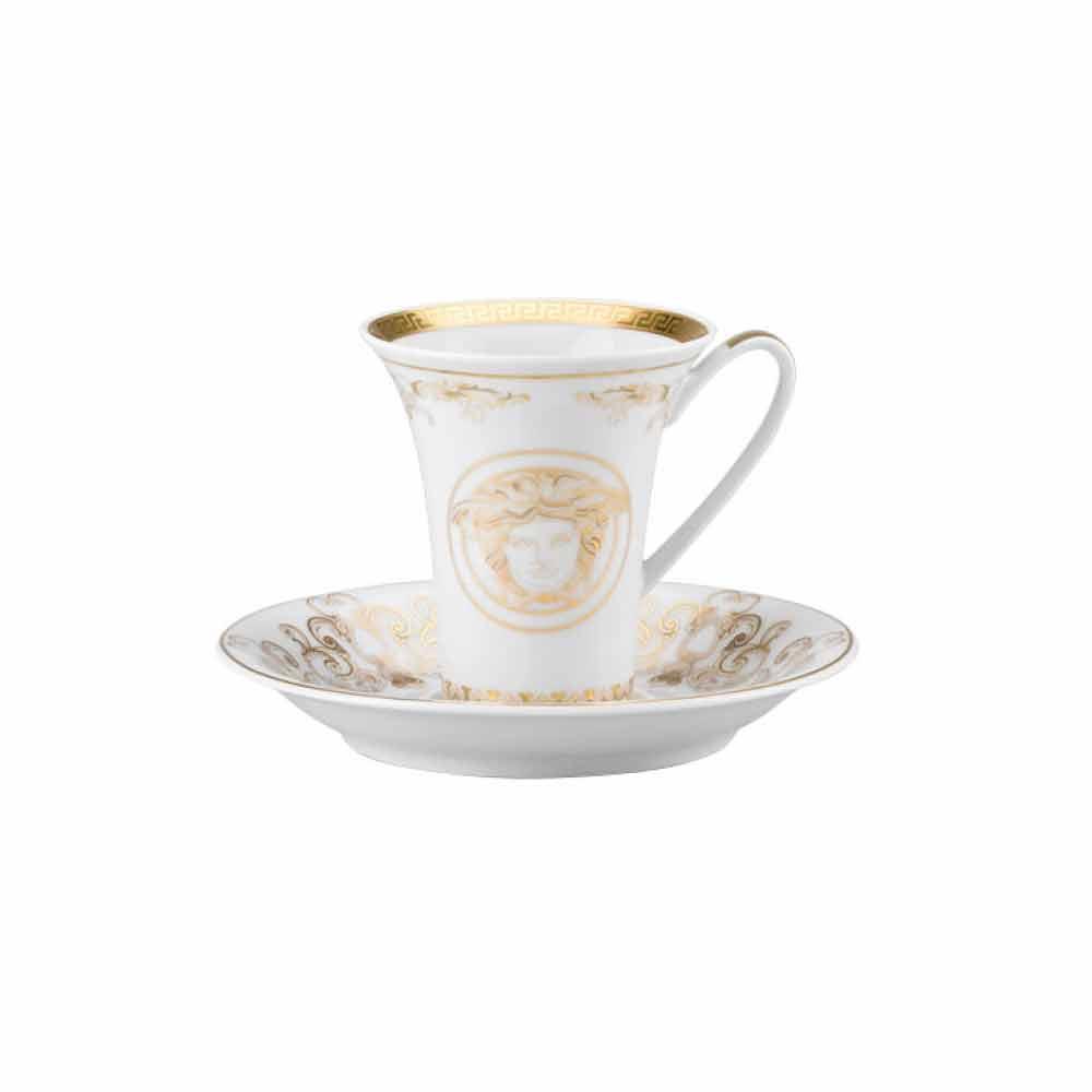 Rosenthal versace medusa gala gold kaffeebecher aus porzellan for Rosenthal home designs