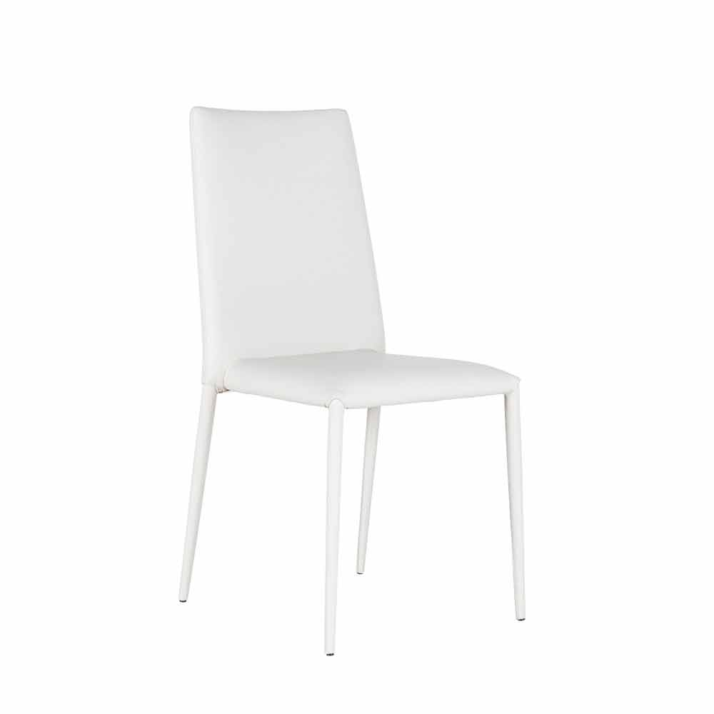 Kunstleder Stuhl Im 4er Set Aus Kunstleder Weiß Grau Oder