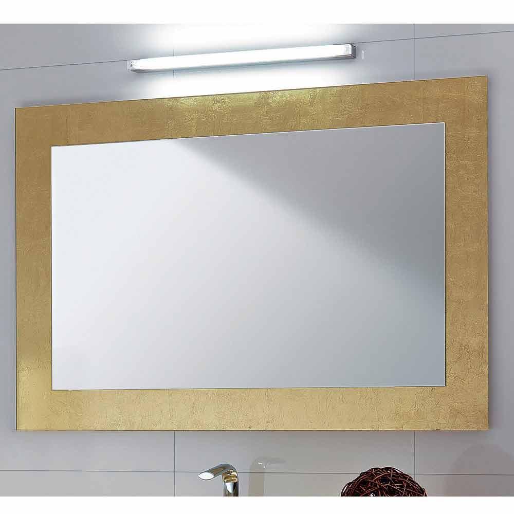 Spiegel in glas mit pascal blattgold verziert for Spiegel glas