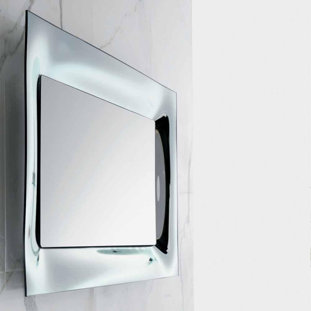 badezimmer spiegelrahmen silber geschmolzenes glas modernes design arin. Black Bedroom Furniture Sets. Home Design Ideas