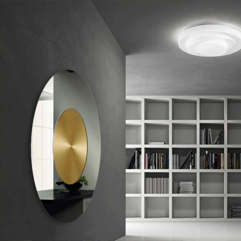 runder wandspiegel mit spiegelrahmen aus mdf. Black Bedroom Furniture Sets. Home Design Ideas