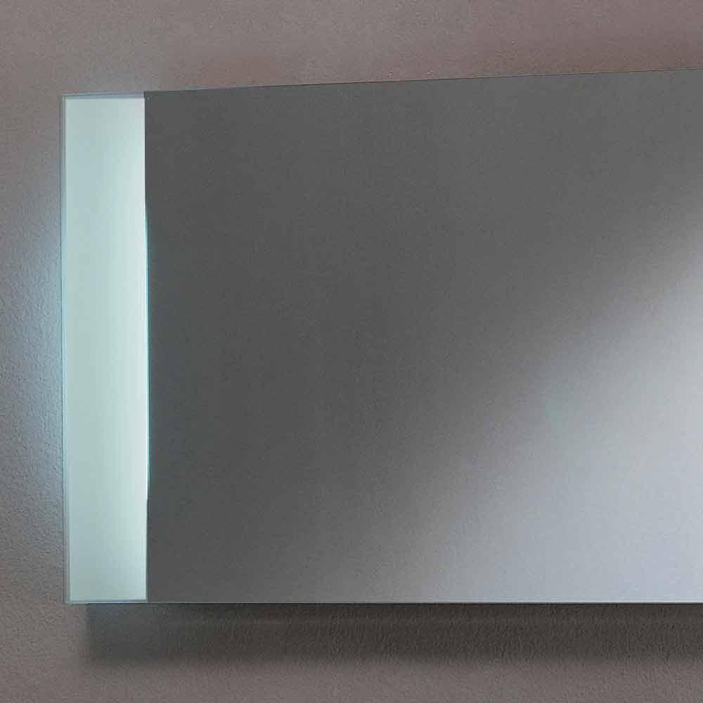 Led design spiegel mit satinierten glaskanten sam for Spiegel mit led