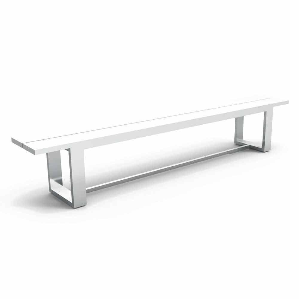 talenti essence gartenbank aus wei aluminium made in italy. Black Bedroom Furniture Sets. Home Design Ideas