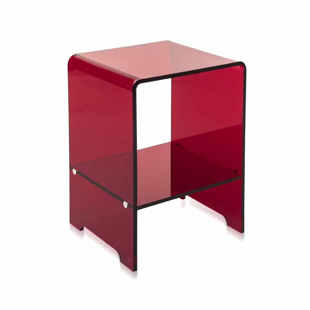 Mimi rot transparenter moderner couchtisch nachttisch for Designer couchtisch rot