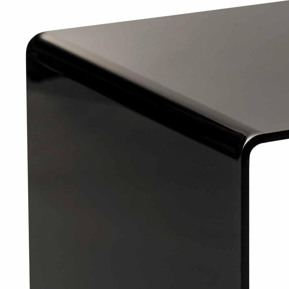 Terry kleiner moderner schwarzer couchtisch 40x40cm made for Schwarzer couchtisch