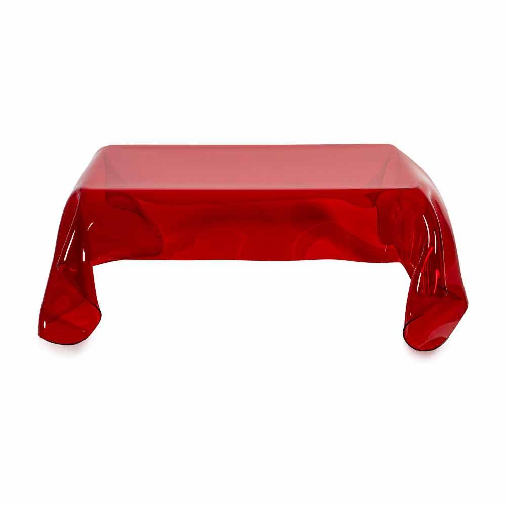 Moderner beistelltisch aus rotem plexiglas drapiert asien for Plexiglas beistelltisch