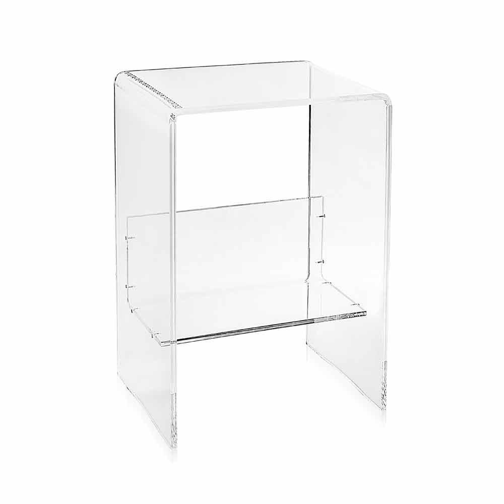 Moderner plexiglas couchtisch b50 x h76 x b40 cm aza for Couchtisch plexiglas