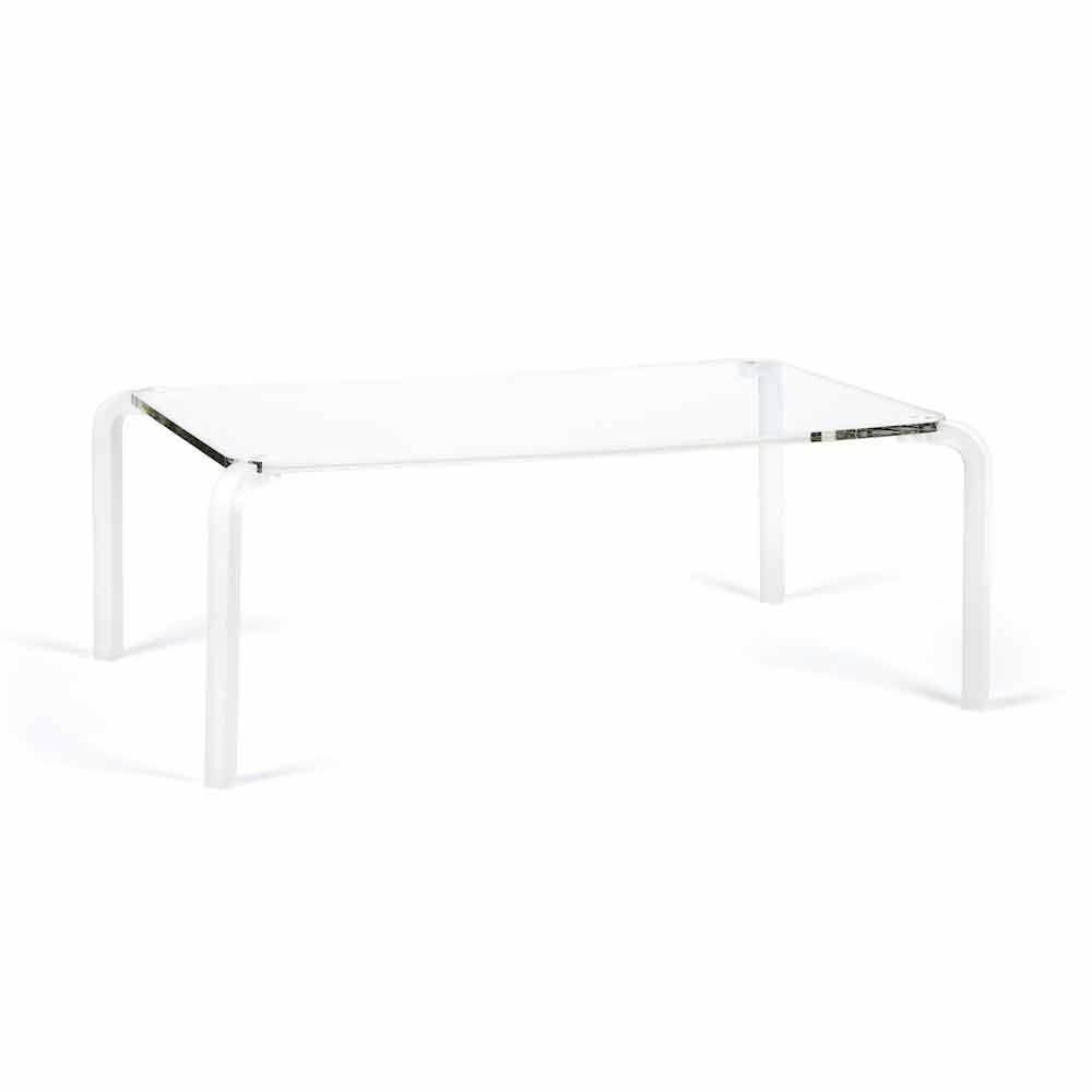 Rechteckiger tisch aus transparentem methacrylat l83 p50 for Tisch billig